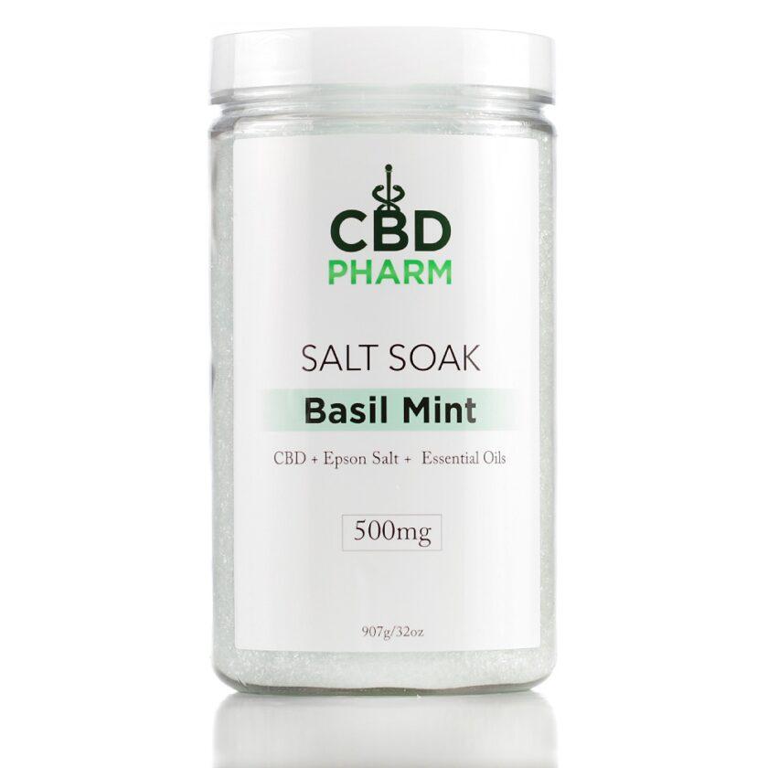Basil Mint Salt Soak