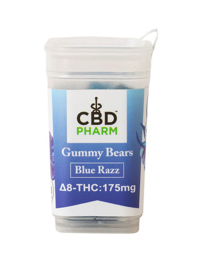 CBD Pharm- Blue Razz Delta 8 Gummy Bears