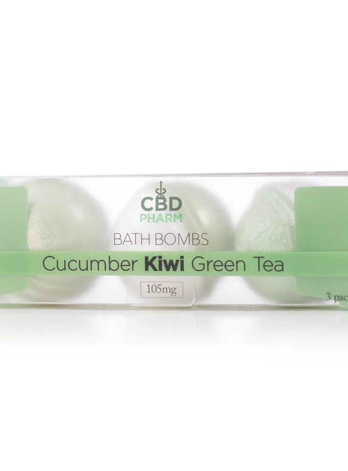 Cucumber Kiwi Green Tea Bath Bombs