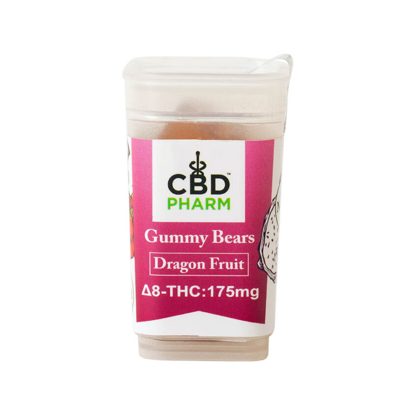 CBD Pharm- Dragon Fruit Delta 8 Gummy Bears