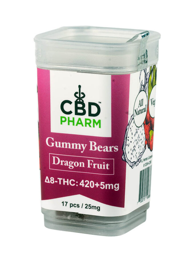 CBD Pharm- Dragon Fruit Delta 8 Gummy Bears (420+5mg)