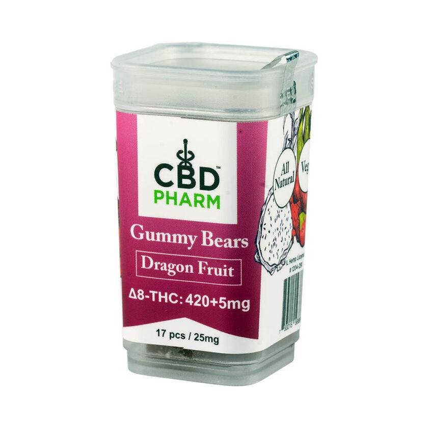 CBD Pharm- Dragon Fruit Delta 8 Gummy Bears (420+5mg)