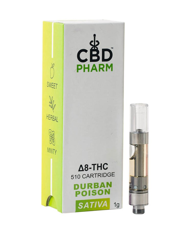 CBD Pharm- Durban Poison Sativa Delta 8 Cartridge
