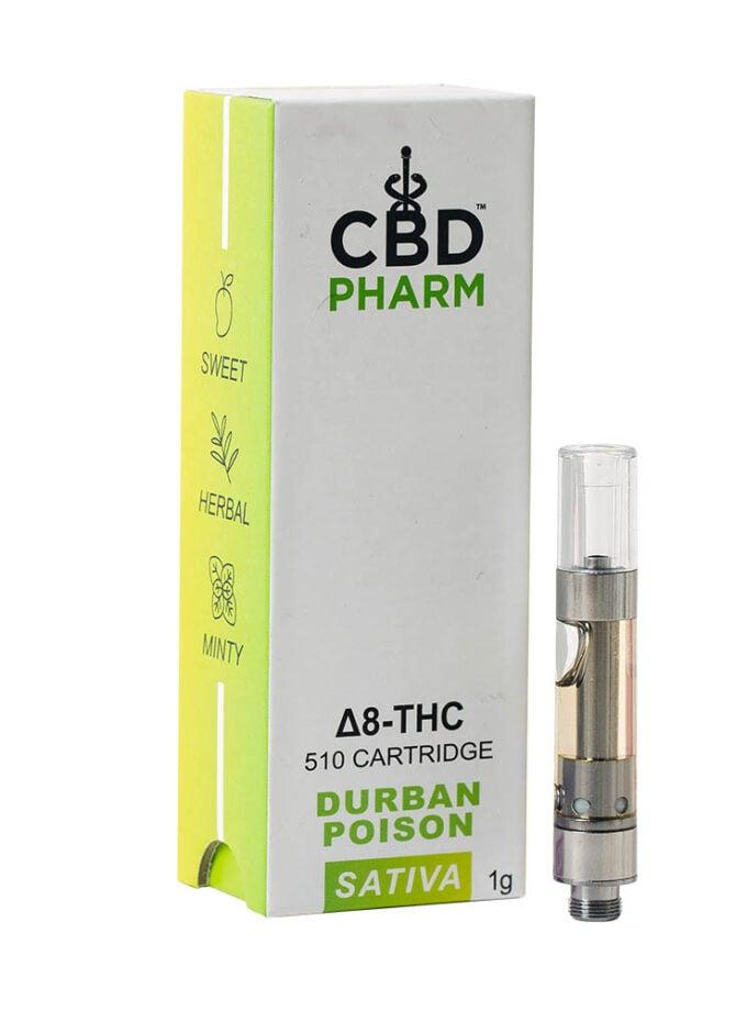 CBD Pharm- Durban Poison Sativa Delta 8 Cartridge