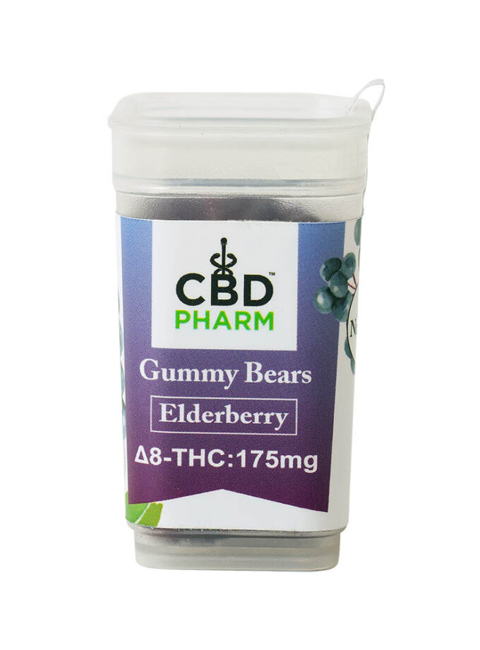 CBD Pharm- Elderberry Delta 8 Gummy Bears
