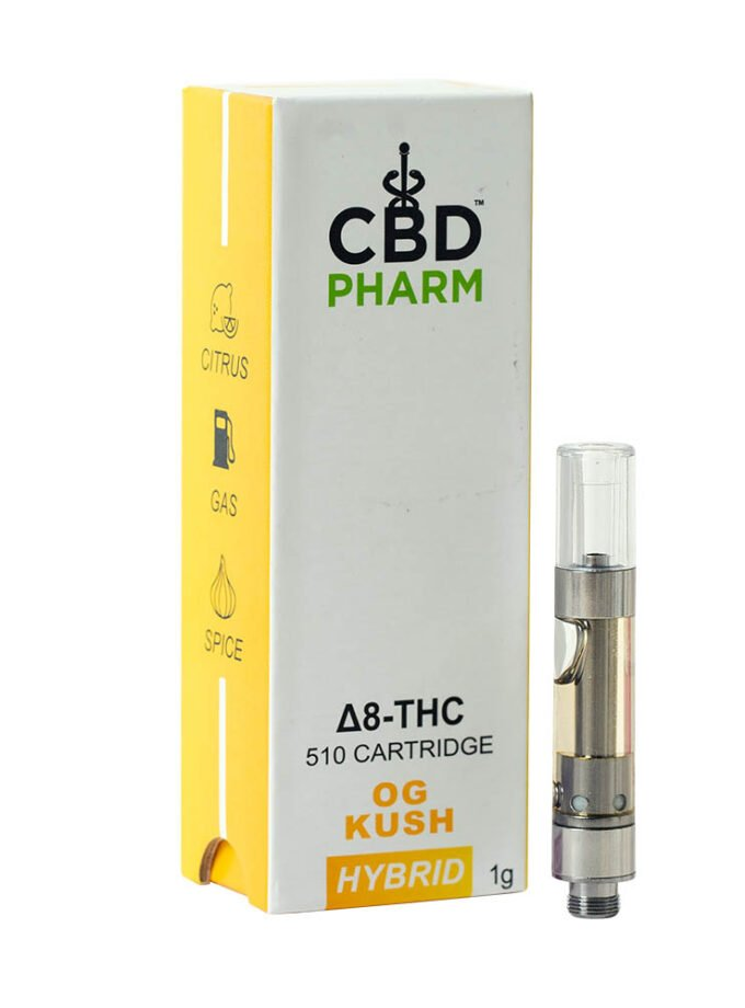 CBD Pharm- OG Kush Hybrid Delta 8 Cartridge