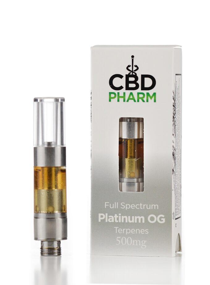 CBD Pharm Platinum OG Cartridge - 0.5ml 500mg