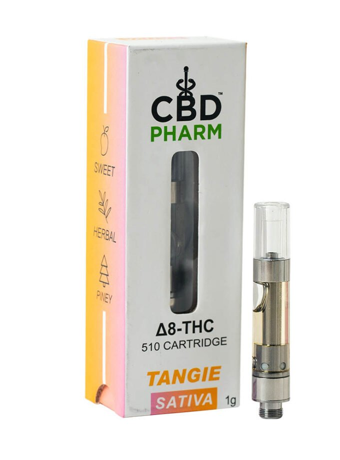 CBD Pharm- Tangie Sativa Delta 8 Cartridge