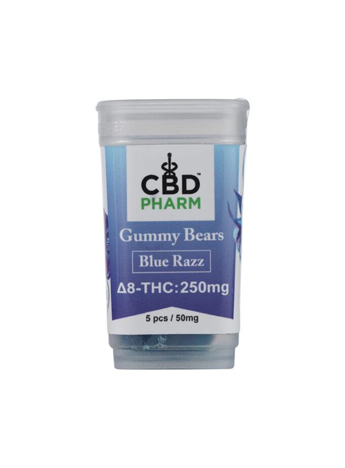 CBD Pharm Blue Razz Delta 8 THC Gummy Bears (250mg)