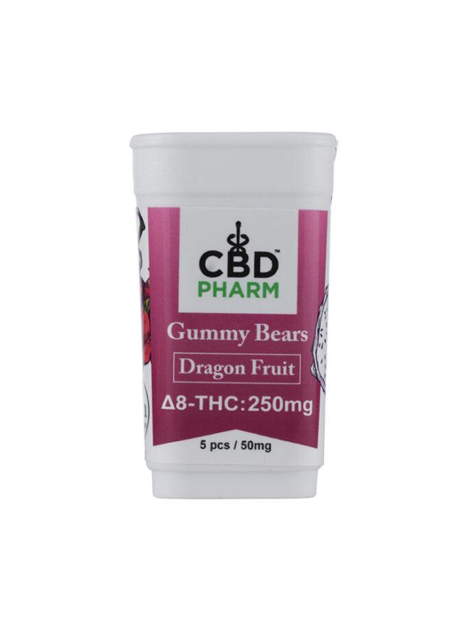 CBD Pharm Dragon Fruit Delta 8 THC Gummy Bears (250mg)