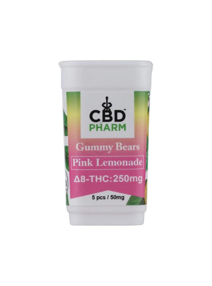 CBD Pharm Pink Lemonade Delta 8 THC Gummy Bears (250mg)