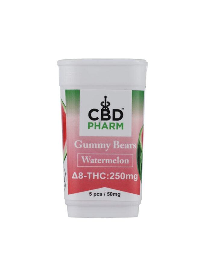 CBD Pharm Watermelon Delta 8 THC Gummy Bears (250mg)