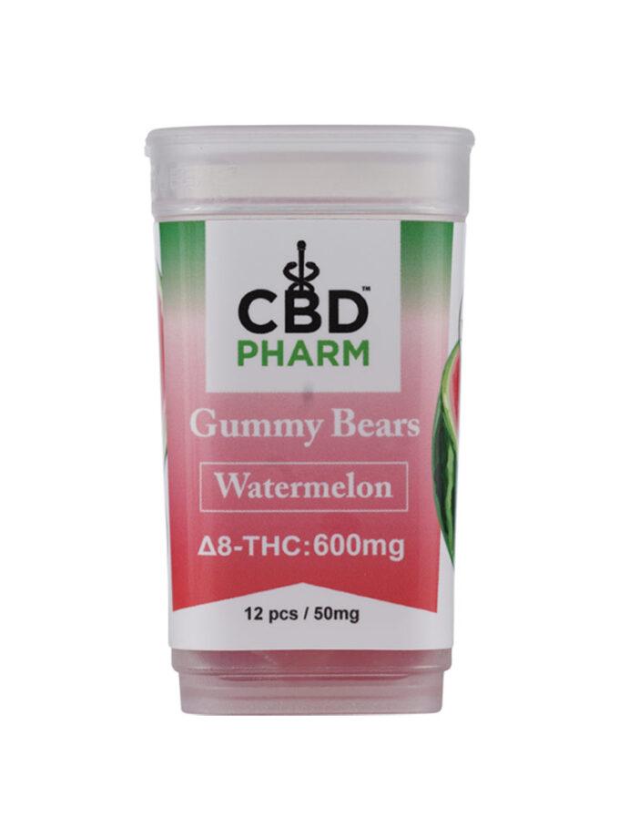 CBD Pharm Watermelon Delta 8 THC Gummy Bears (600mg)