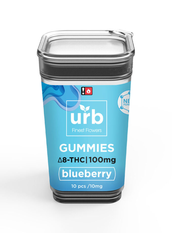 URB Blueberry Delta 8 Gummies - 10 Count, 100mg