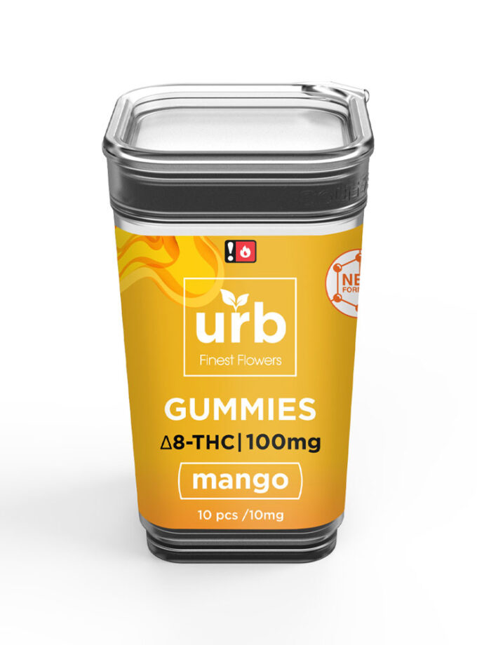 URB Mango Delta 8 Gummies - 10 Count, 100mg