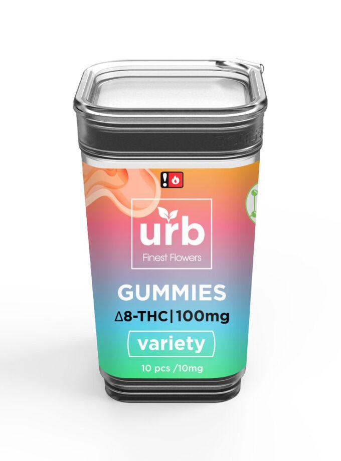URB Variety Delta 8 Gummies - 10 Count, 100mg