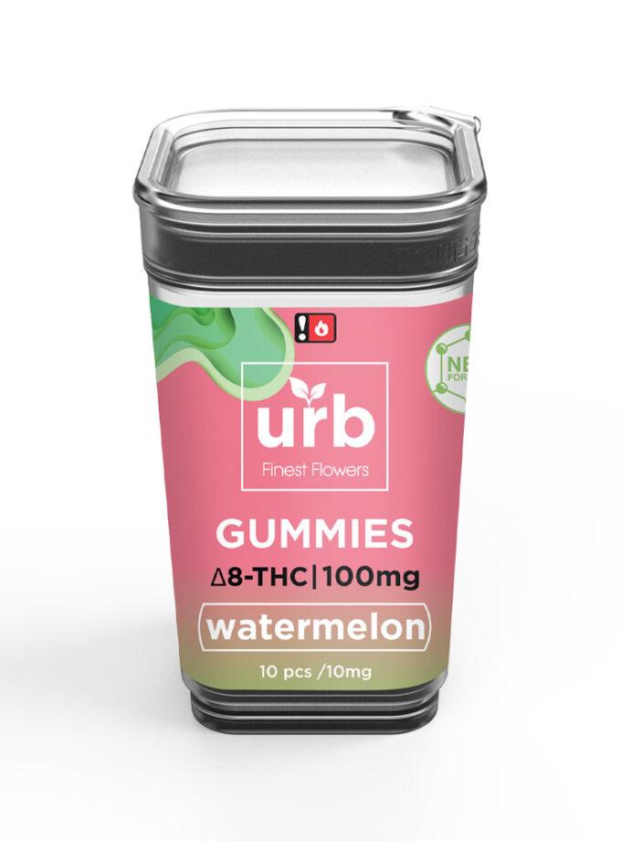 URB Watermelon Delta 8 Gummies - 10 Count, 100mg