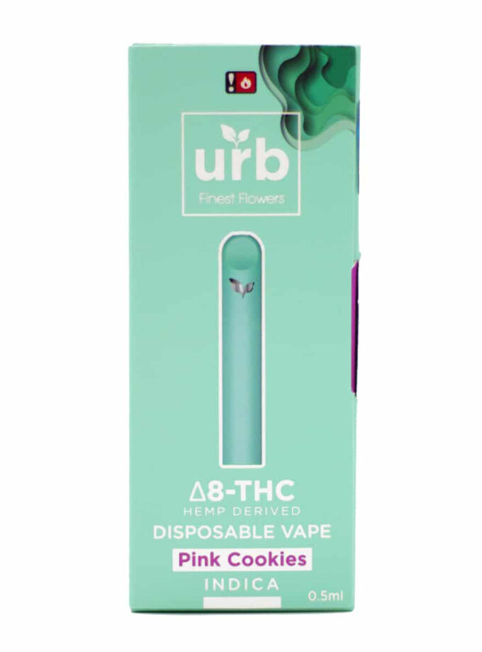 Urb Pink Cookies Indica Delta 8 THC Disposable Vape