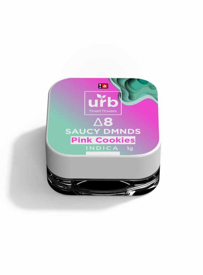 Urb Pink Cookies Indica Delta 8 THC Saucy Dmnds