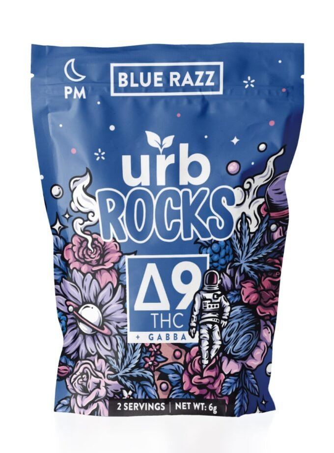 Urb Rocks Blue Razz Delta 9 THC + Gabba