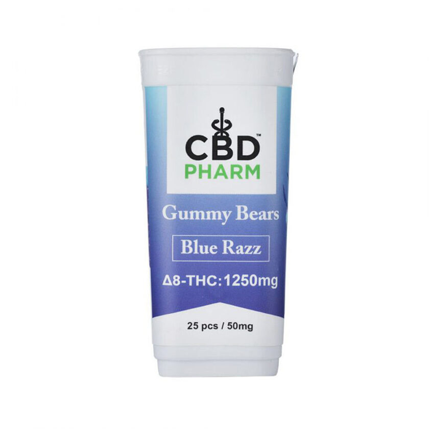 CBD Pharm Blue Razz Delta 8 THC Gummy Bears (1250mg)