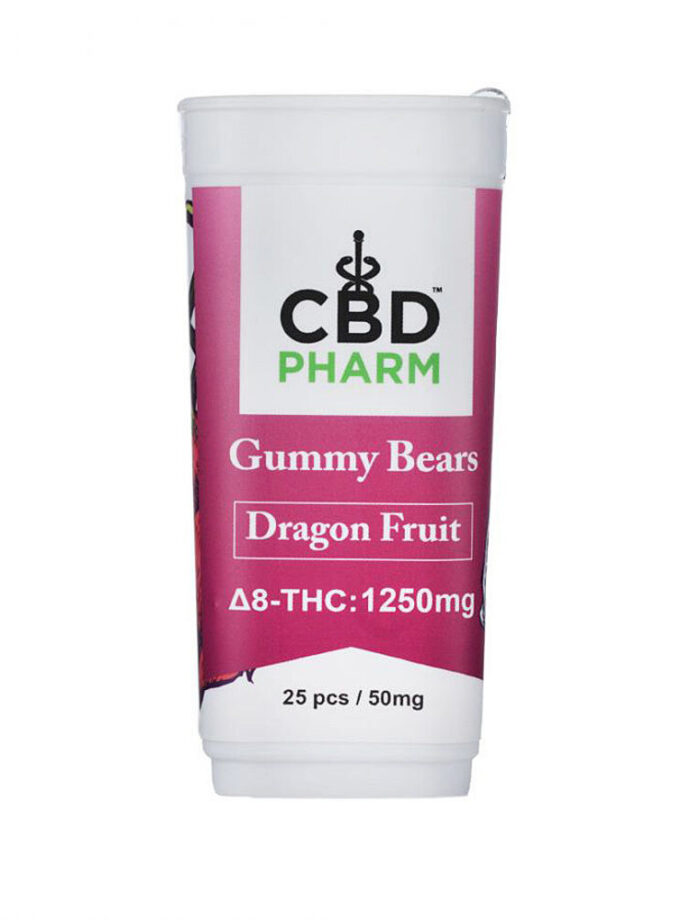 CBD Pharm Dragon Fruit Delta 8 THC Gummy Bears