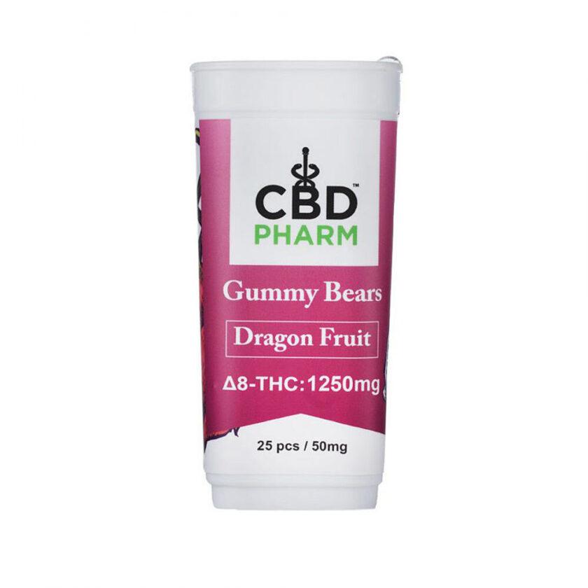 CBD Pharm Dragon Fruit Delta 8 THC Gummy Bears
