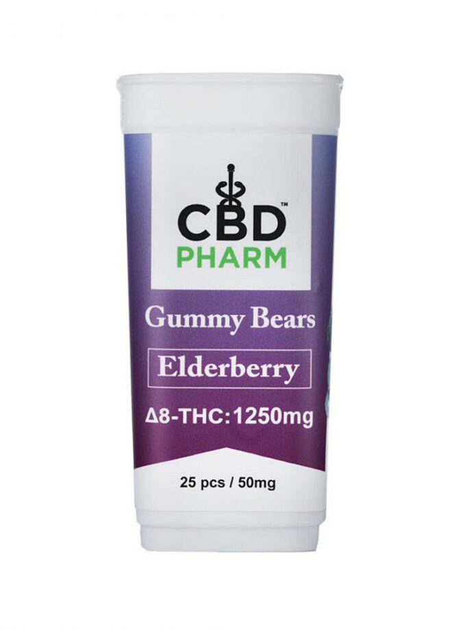 Elderberry Delta 8 THC Gummy Bears