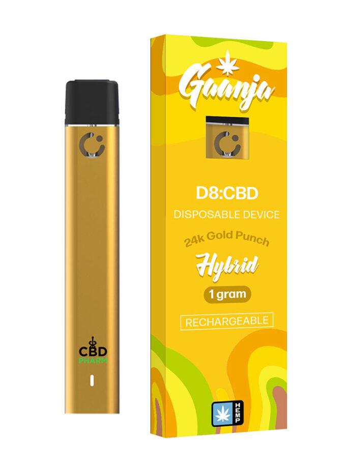 gaanja-24k-gold-punch-hybrid-delta-8-thc-&-cbd-1g-disposable-device