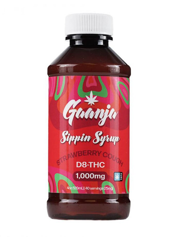 Gaanja Strawberry Cough Delta 8 THC Sippin Syrup