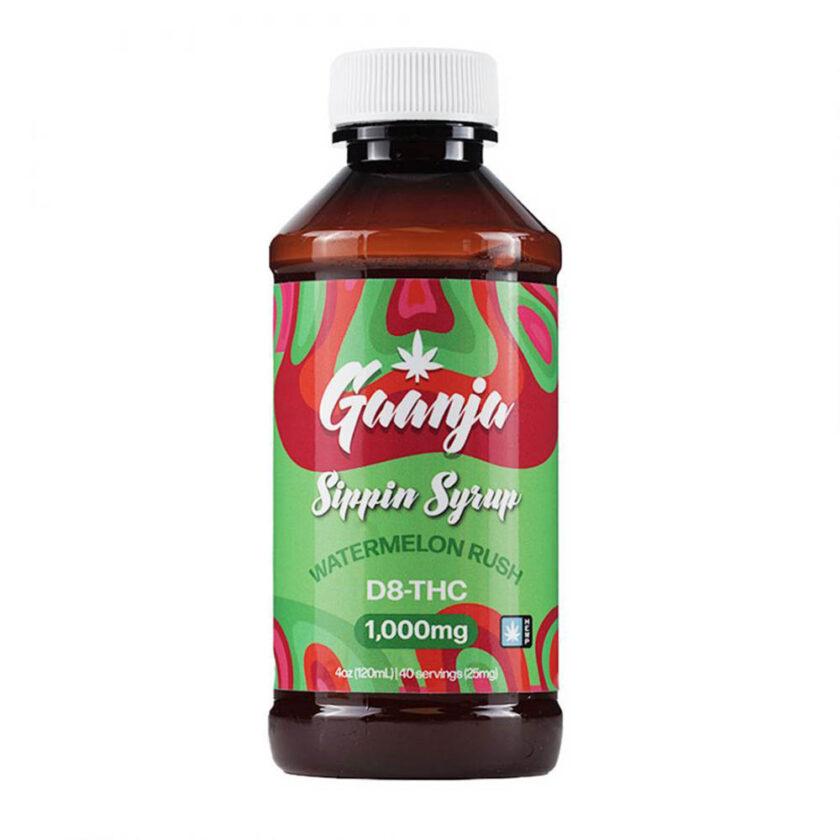 Gaanja Watermelon Rush Delta 8 THC Sippin Syrup